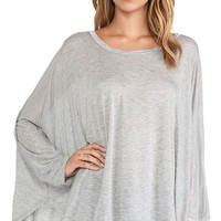 Michael Lauren Felix Oversized Cape Tee in Gray