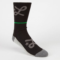 Lrg Two Mens Crew Socks Black One Size For Men 23044710001