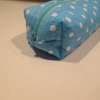 Boxy Pencil Pouch or Zippered Cosmetic Bag by ModernGeneration