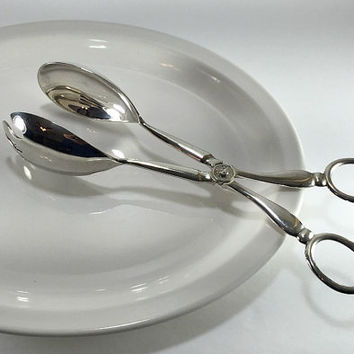 Silverplate Salad Tongs, Buffet Tongs, Serving Tongs, Fruit Tongs, Raimond Silverplate, Vintage Serving Ware, Wedding Gift, Vintage Kitchen