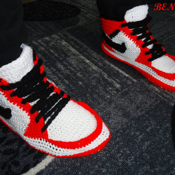 official photos 6bb39 051d2 Nike Air Jordan Shoes, Crochet Converse Slippers, Adult Shoes, H. Etsy  Clothing!