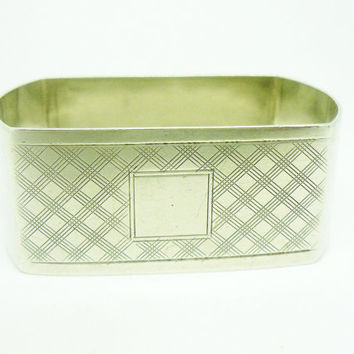 Solid Silver Napkin Ring, Sterling, NOT Engraved, Serviette, Vintage, English, Hallmarked Birmingham 1926, REF:256G