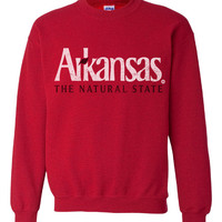 Arkansas The Natural State Crew Neck Sweatshirt