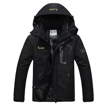 Men's Winter Inner Fleece Waterproof Jacket