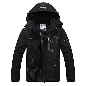 Men's Winter Inner Fleece Waterproof Jacket Outdoor Sport Warm Brand Coat Hiking Camping Trekking Skiing Male Jackets VA063