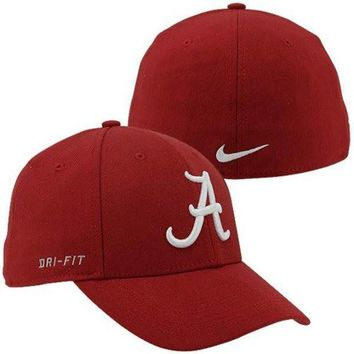 Nike Alabama Crimson Tide Dri-FIT Swoosh Flex Hat - Crimson