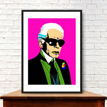Pop Art Portrait - Karl Lagerfeld (A4, 21cm x 29.7cm)
