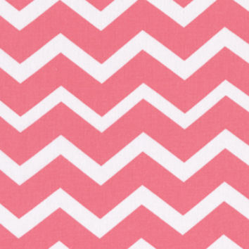 Keepsake Calico Cotton Fabric-Coral & White Chevron | Jo-Ann