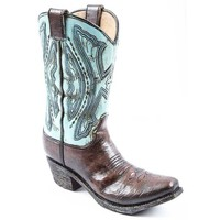 Blue & Brown Resin Cowboy Boot Vase | Hobby Lobby