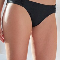 LA Hearts Side Tab Bikini Bottom - Womens Swimwear - Black