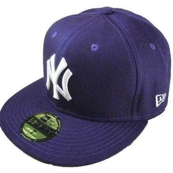 New York Yankees New Era Mlb Authentic Collection 59fifty Caps Blue White