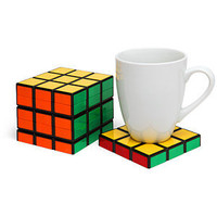 ThinkGeek :: Rubik's Cube Coasters