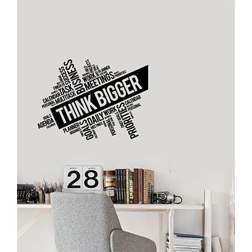 Vinyl Decal Wall Sticker Decor for Office Business Motivation Work space Unique Gift (g129)