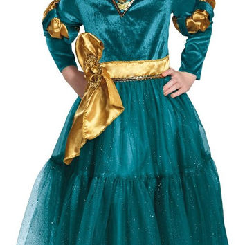 merida deluxe toddler costume 3-4t
