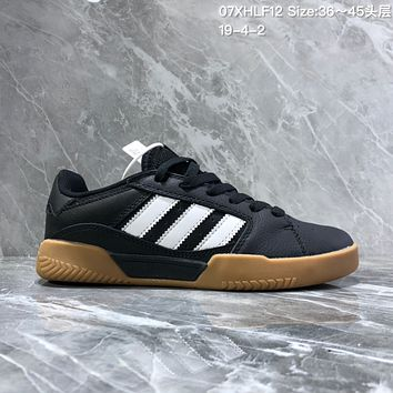hcxx A1156 Adidas Vrx Low Classic Magic Sticking Antique Board Shoes Black Brown