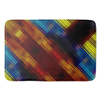Colorful Contemporary Geometric Pattern Bath Mat