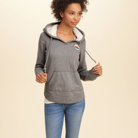 Faux Fur Lined Graphic Hoodie