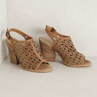 Daisy Cutwork Heels by Very Volatile