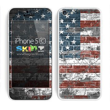 Vintage USA American Flag Skin For The iPhone 5c