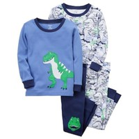 DCCKX8J Toddler Boy Carter's 4-pc. Dinosaur Pajamas Set | null