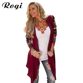 Women Aztec Print Cardigan Shrug