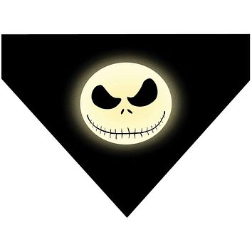 Halloween Over the Collar Dog Bandana - Jack Skellington