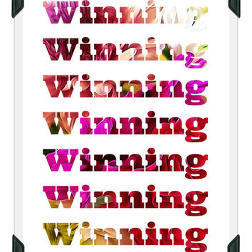 WINNING- Inspirational Art-Typography- Printable Poster- Quote Print- Home Decor- Succeeding in Life- Motivational