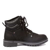 Yab Lace-up Ankle Hiking Boots in Black @ yabshop.com