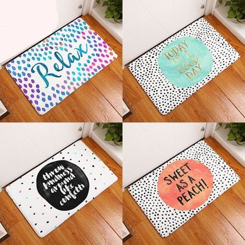 Relax, Today Is A Cloud Day, Sweet As A Peach! Collection Welcome Doormat