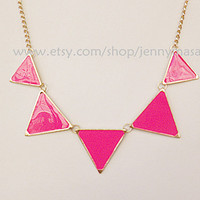 Sale- Fluorescence Fink Fashion Necklace, pub high street necklace, punk necklace