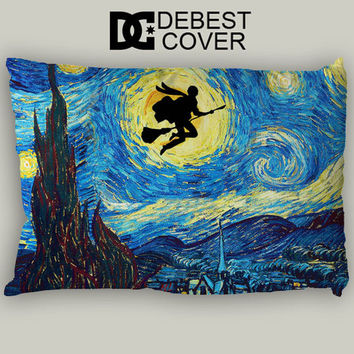 Starry Night Harry Potter Pillow Case In 20 x 30 Inches