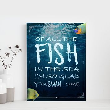 Fish In The Sea 11 x 14 Canvas Set (Free Shipping)