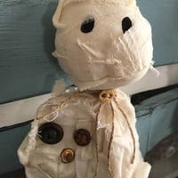 Rustic Halloween mummy/ Primitive mummy