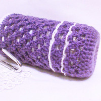Crochet water bottle cozy Purple Crocheted bottle sleeve Bottle cover Jar cozy Cozies Drink cozy Bottle crochet gift bag