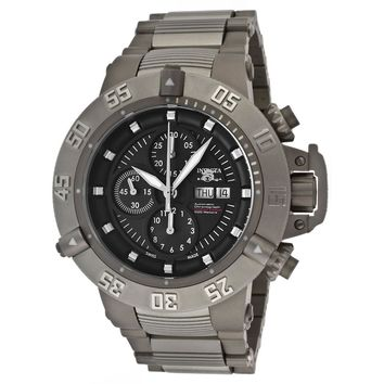 Invicta 11050 Men's Subaqua Noma III Black Dial Steel & Titanium Bracelet Chronograph Automatic Dive Watch