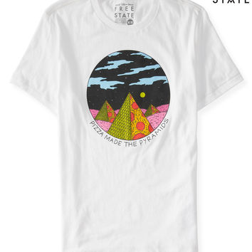 Aeropostale  Free State Pizza Made The Pyramids Graphic T