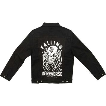 Falling In Reverse Men's  Crawler Jacket Denim Jacket Black