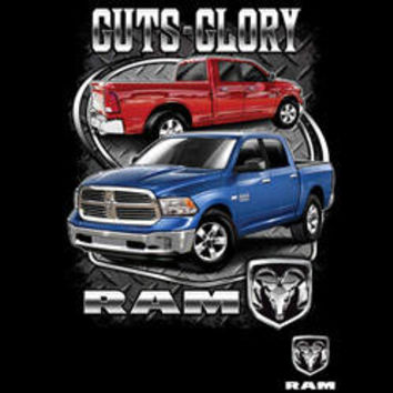 DODGE  guts and glory ram  sports  cars  pick up truck t-shirt tee shirts Licensed T-SHIRTS car trucks tee shirts