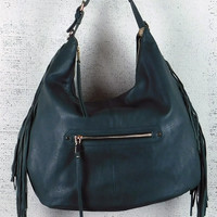 Tori Green Fringe Hobo Bag
