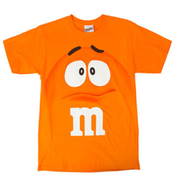 M&M's Candy Character Face T-Shirt - Adult - Orange - Small
