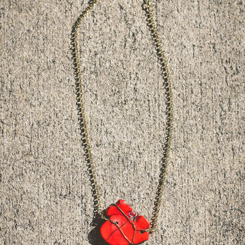 Stone Cold Necklace – Red