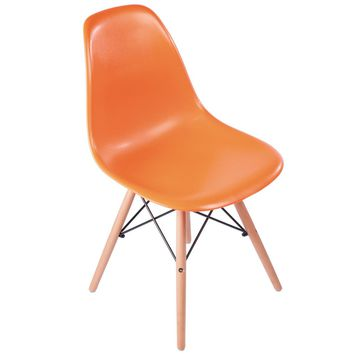 Eames Style Side Chair, Orange