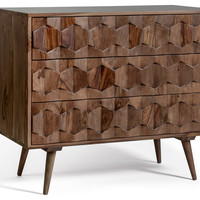 Malmo Mid Century Modern Dresser With 3 Drawers - Midcentury - Dressers - by Houzz