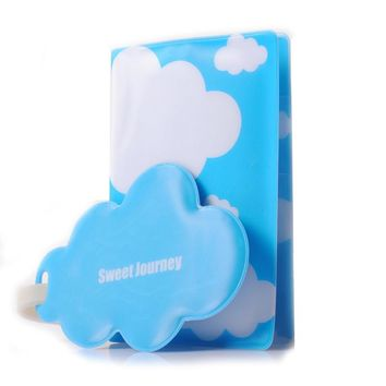 1pc Business Passport Cover With Passport Holder Luggage Tag Silicone Strap The Cover Of Passport -- BIY009 PR49