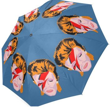 David Bowie Umbrella - Illustrated and Handmade in the USA