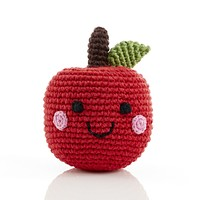 Smiling Apple - Fair Trade Knitted Baby Rattle