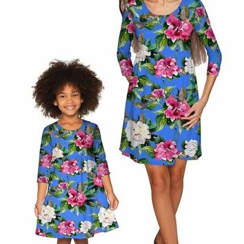 Aquarelle Gloria Empire Waist Floral Mommy and Me