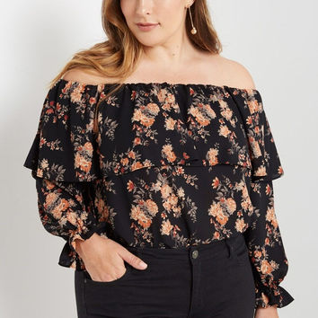 Off the Shoulder Top Plus Size