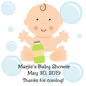 Bath Baby Shower Favor Tags Boy and Girl Available