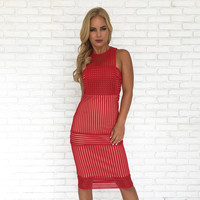 Sophia Dress In Red